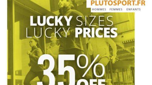35% de remise supplémentaire sur le déstockage Plutosport