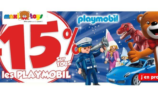 15% de remise sur tous les Playmobil sur Maxitoys