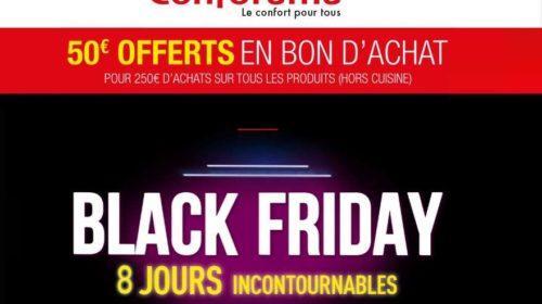 50€ offerts dès 250€ d'achats pour la Black Week de Conforama