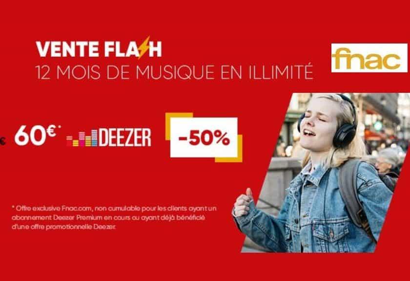Abonnement Deezer Premium moitié prix