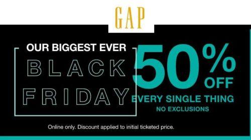 Black Friday GAP remise de 50% sur tout