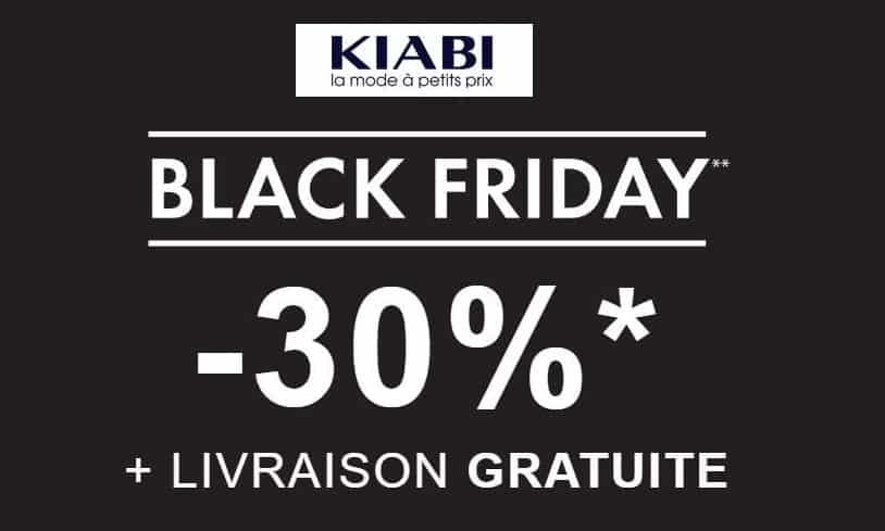 Black Friday Kiabi 30% de remise sur le site