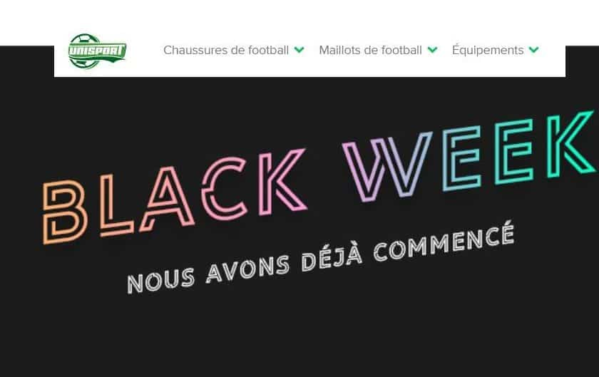 Black Friday Unisport articles de foot