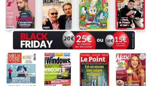 Bon plan Black Friday abonnement magazine -25€
