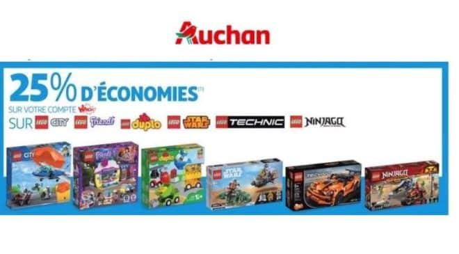 Bon plan Lego 25% crédité sur votre carte Auchan
