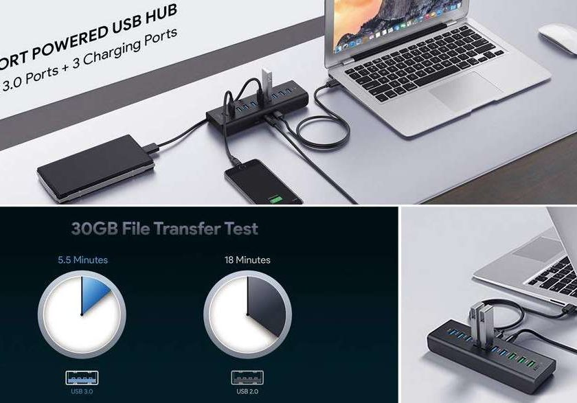 HUB 10 ports USB Aukey PROMOTION