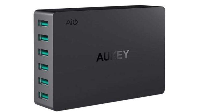 PROMO chargeur secteur 6 ports USB Aukey PA-U46