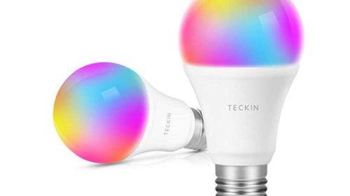 PROMO lot de 2 ampoules connectées LED WI-FI TECKIN