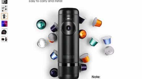 Promo machine à expresso portable Albohes capsules Nespresso