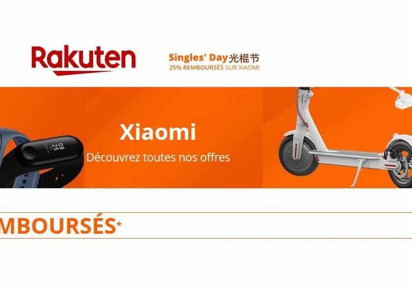 Rakuten – Xiaomi 25% crédité sur les smartphones, trottinettes
