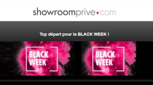 Semaine Black Friday Showroomprivé