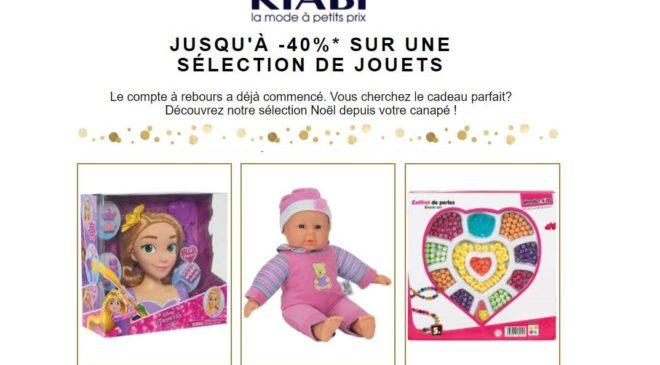 Vente flash de jouets sur Kiabi