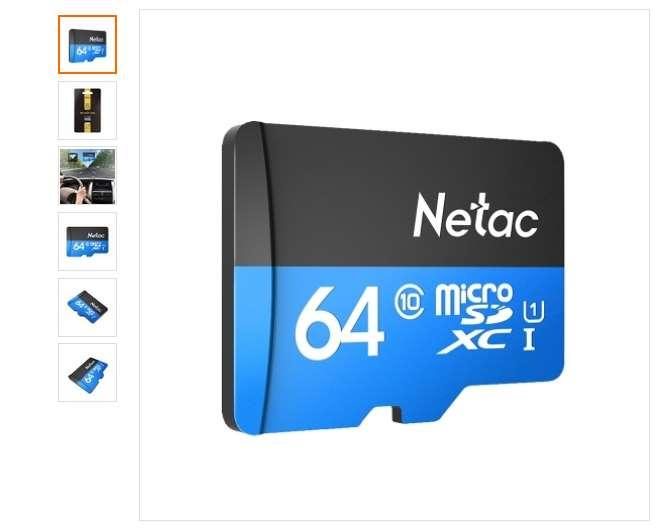 carte micro SDXC 64Go Netac P500 pas chere