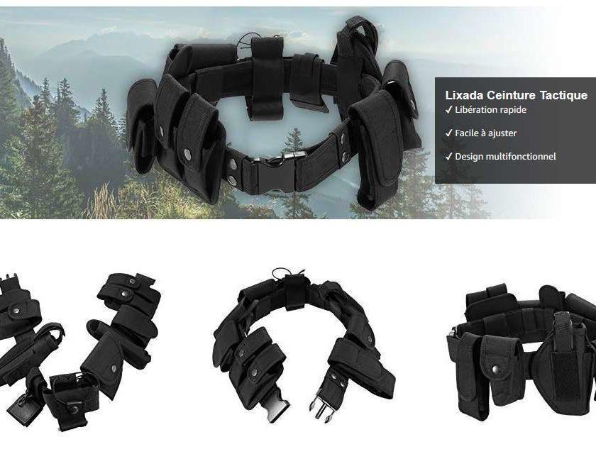 ceinture multipoches Lixada agent de sécurité