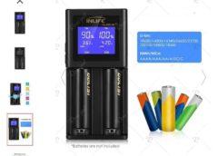 10,17€ chargeur de piles avec écran Inlife S2 Golisi (tous types de piles rechargeables lithium-ion, NiMH, NiCd) port inclus