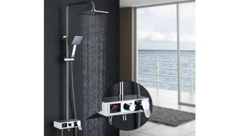 colonne de douche avec affichage de la température de l'eau Homelody