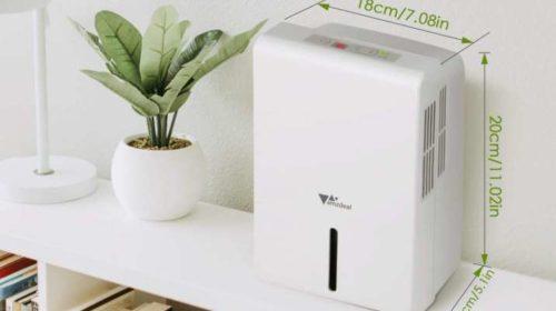 déshumidificateur compact 1,5 litres avec panneau de contrôle Amzdeal