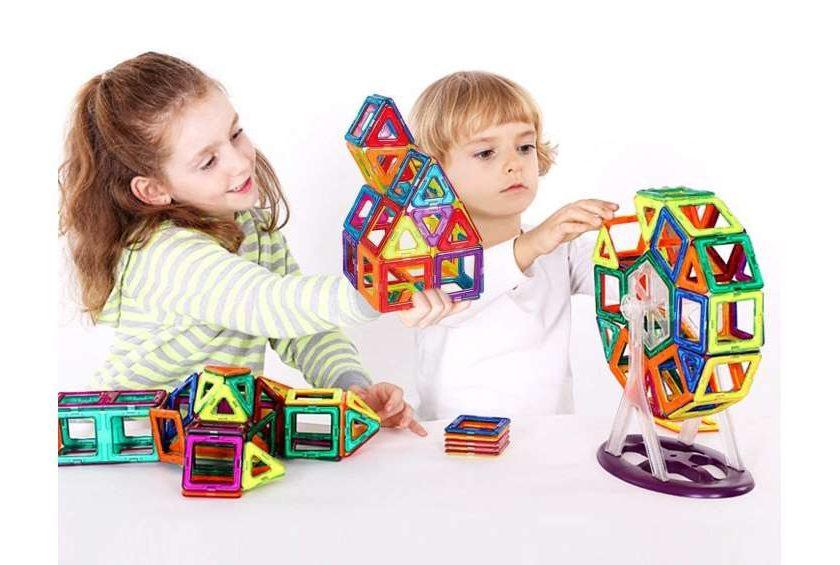 kit de construction magnétique 66 pièces Intey