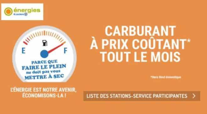 liste des stations essence à prix coûtantLeclerc