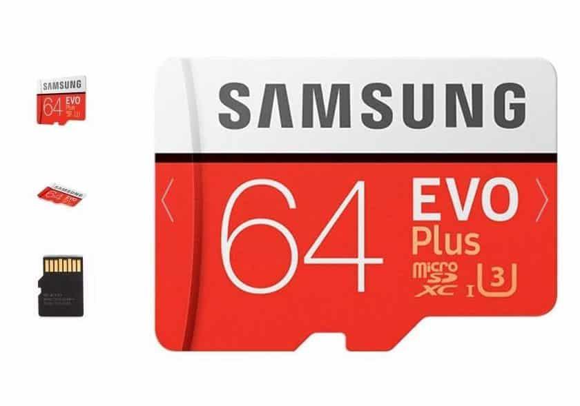 microSDXC 64Go U3 Samsung EVO PLUS 100Mos ROSEGAL