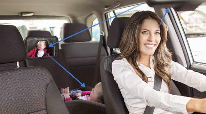 miroir de surveillance siège auto arrière Amzdeal