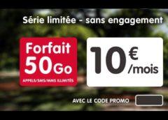 Forfait 50Go NRJ Mobile pour seulement 10€ par mois A VIE – tout illimité