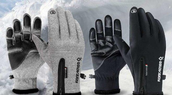 paire de gants spécial froid avec touché tactile Luxada