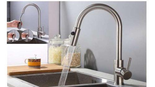 robinet de cuisine avec douchette extractible Homelody