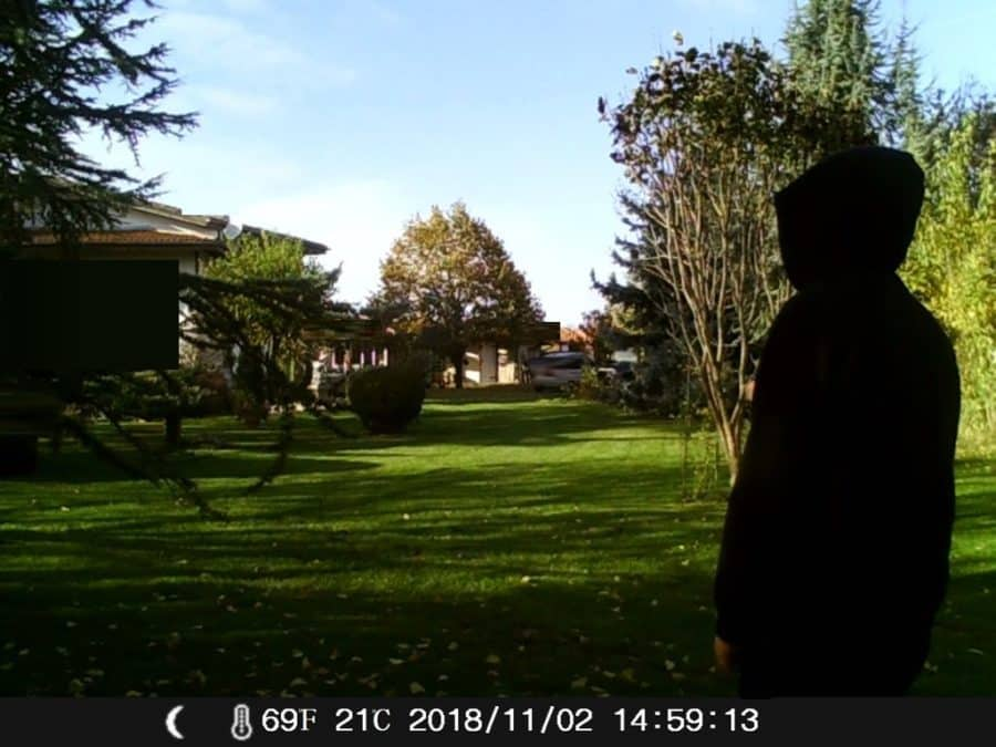 test camera chasse H45 1