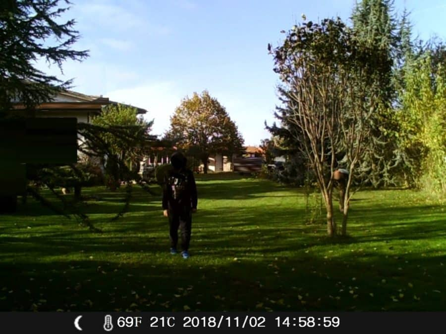 test camera chasse H45 2