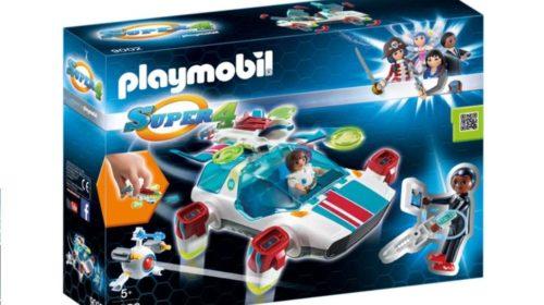vaisseau spatial FulguriX Playmobil Super 4 + figurines Gene et Franz