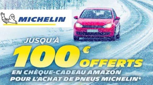 100€ offert en carte cadeau Amazon pour l'achat de pneus Michelin