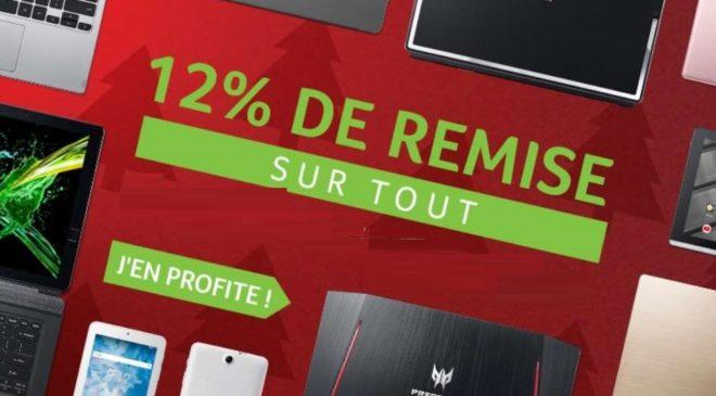 12% de remise sur tous le site Acer