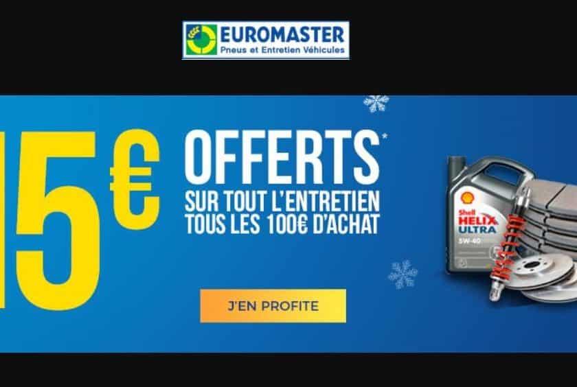 15€ de remise sur tout l'entretien Euromaster