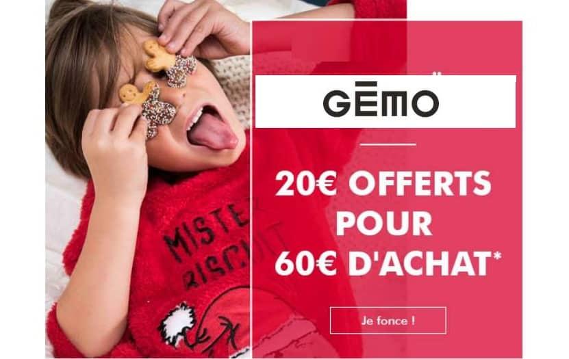 20€ de réduction sur Gémo