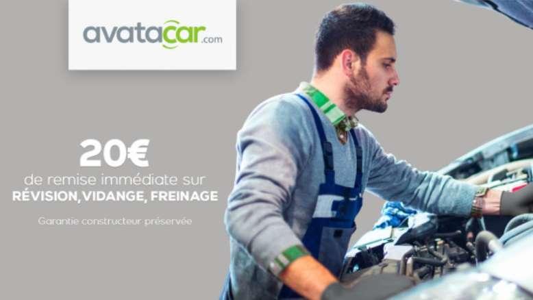 20€ de remise sur Avatacar pour une prestation révision, vidange ou freinage