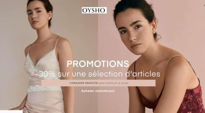 30% de remise sur Oysho et livraison gratuite
