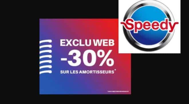 30% de remise sur les amortisseurs chez Speedy