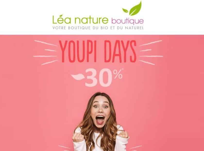 30% de remise sur tout le site Lea Nature