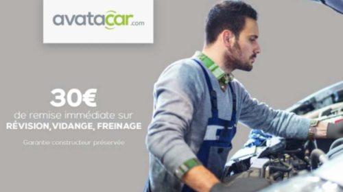 30€ de remise sur Avatacar pour une prestation révision, vidange ou freinage
