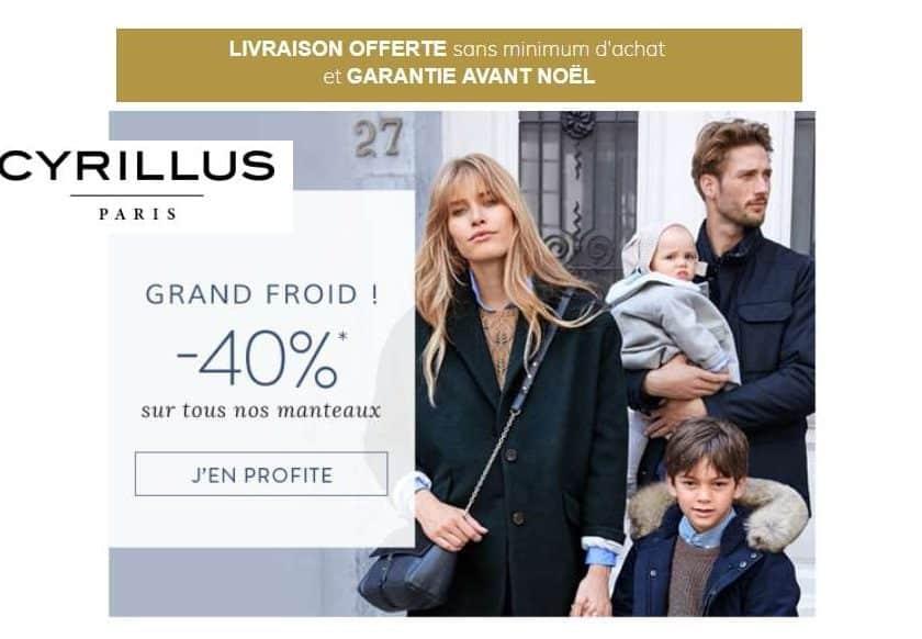 40% de remise sur tous les manteaux Cyrillus