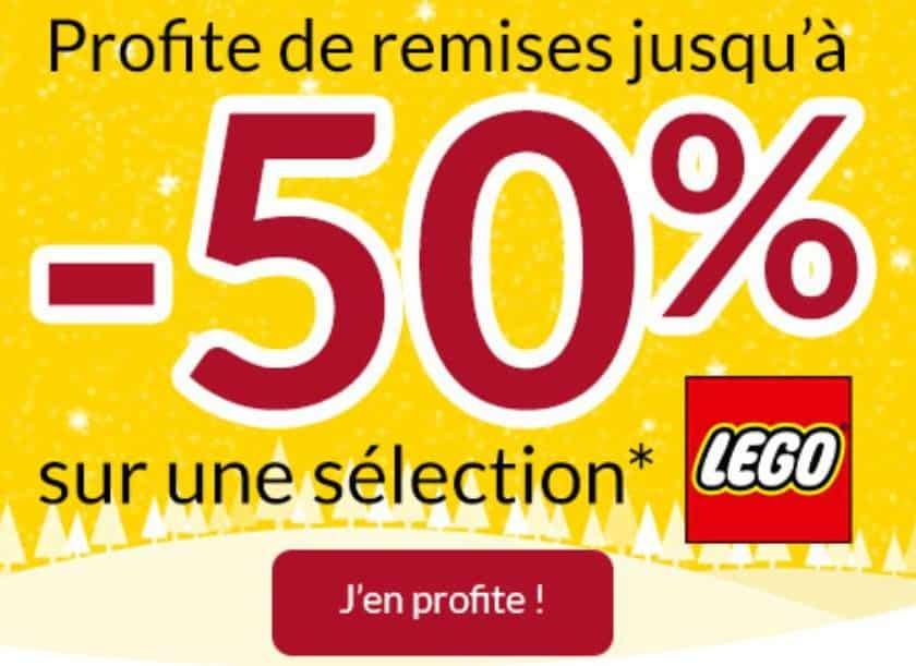 50% de remise sur des Lego