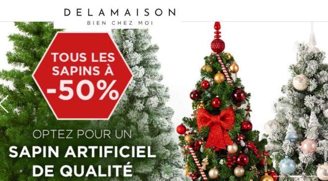50% de remise sur les sapins de Noël artificiels