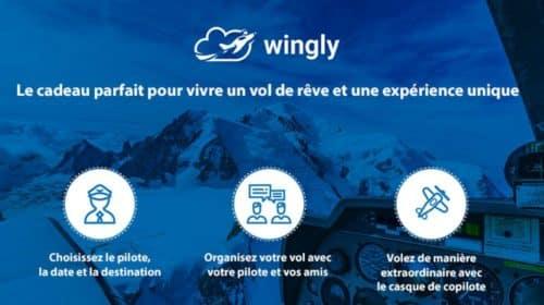 Bon d'achat Wingly pour une réservation d'un vol dans un avion de tourisme