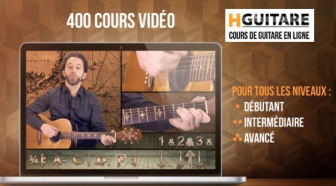 Cours de guitare en ligne moitié prix