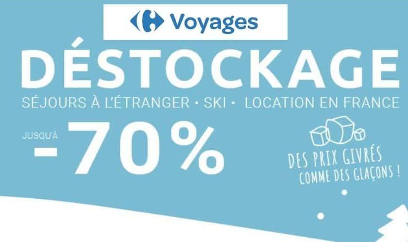 Déstockage séjours sur Carrefour Voyages