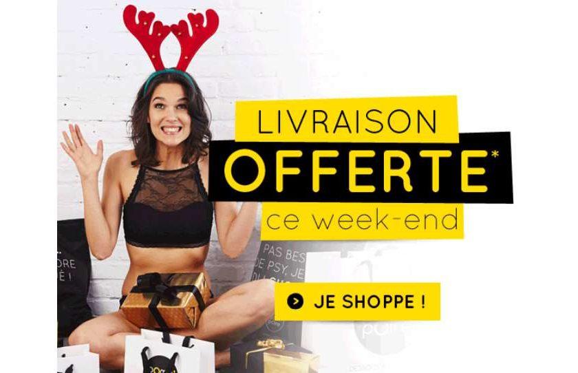 Livraison gratuite sur Pomm'Poire lingerie et Le Bourget