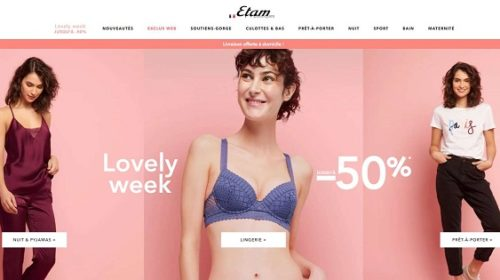 Lovely Week Etam = Jusqu'à 50% + Livraison Gratuite Domicile Sans Minimum