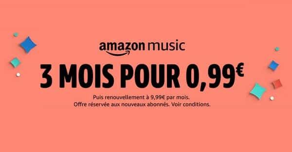 Offre Amazon Music 3 Mois Pour 0,99€