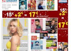 Offre abonnement magazine pas cher pour Noel ! (dés 5€ l'abonnement / remise -17€ sans mini)